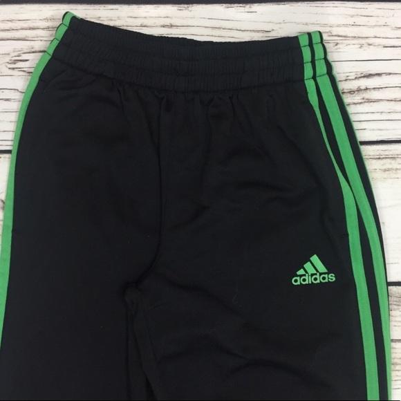 ce225b5492be adidas Other - Adidas Kids Medium Black Green Stripe Track Pants